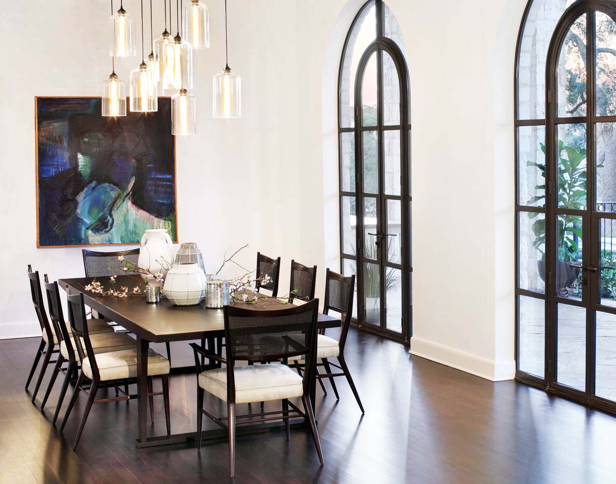 Art glass of pendant chandelier will also be good for your formal dining room