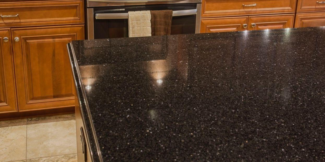 clean granite kitchen