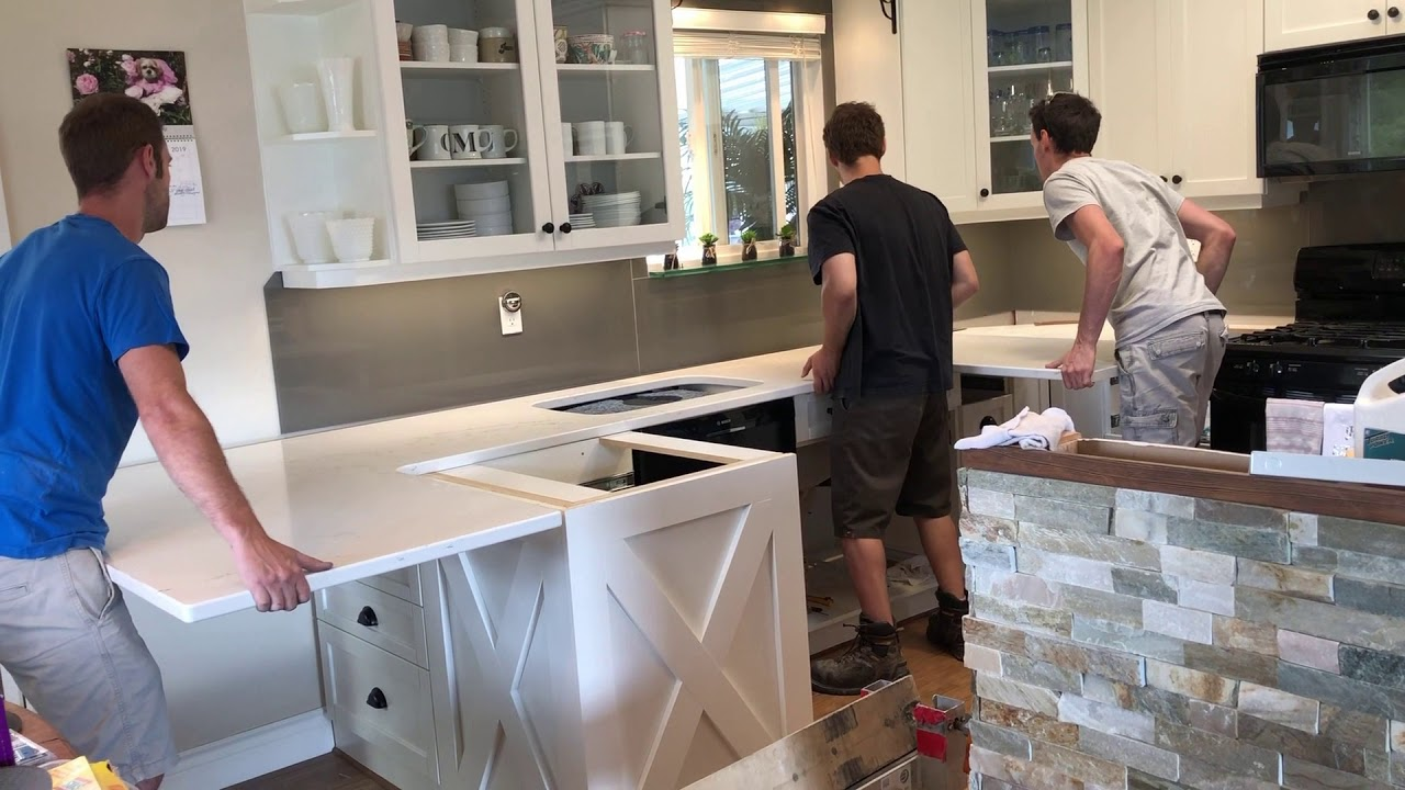 how to install the granite countertops