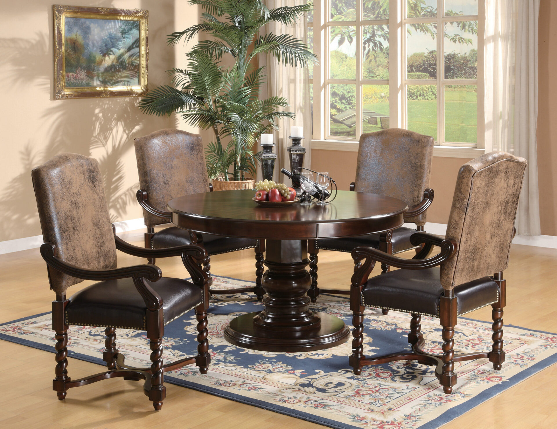 Round mahogany is also one of the stunning formal dining room tables you must try