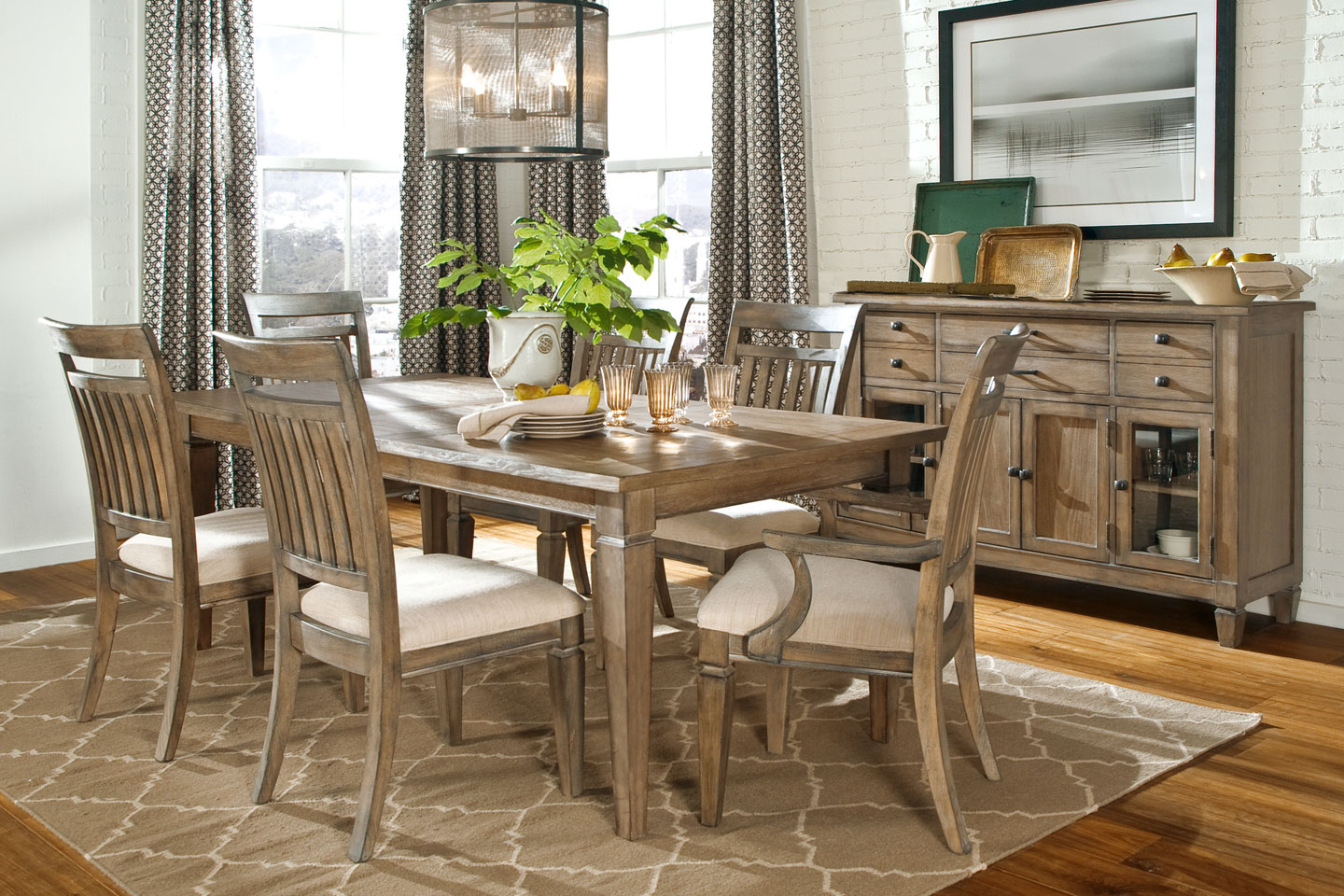 Rustic Dining Room Set: Contemporary and Elegant