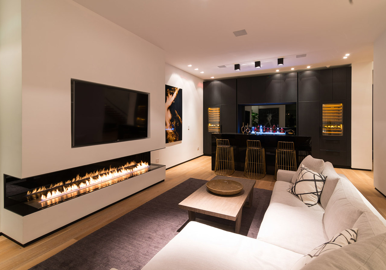Ethanol Fireplace for Living Room