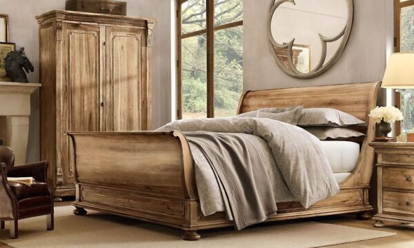 Sleigh Bed King from 19th Century