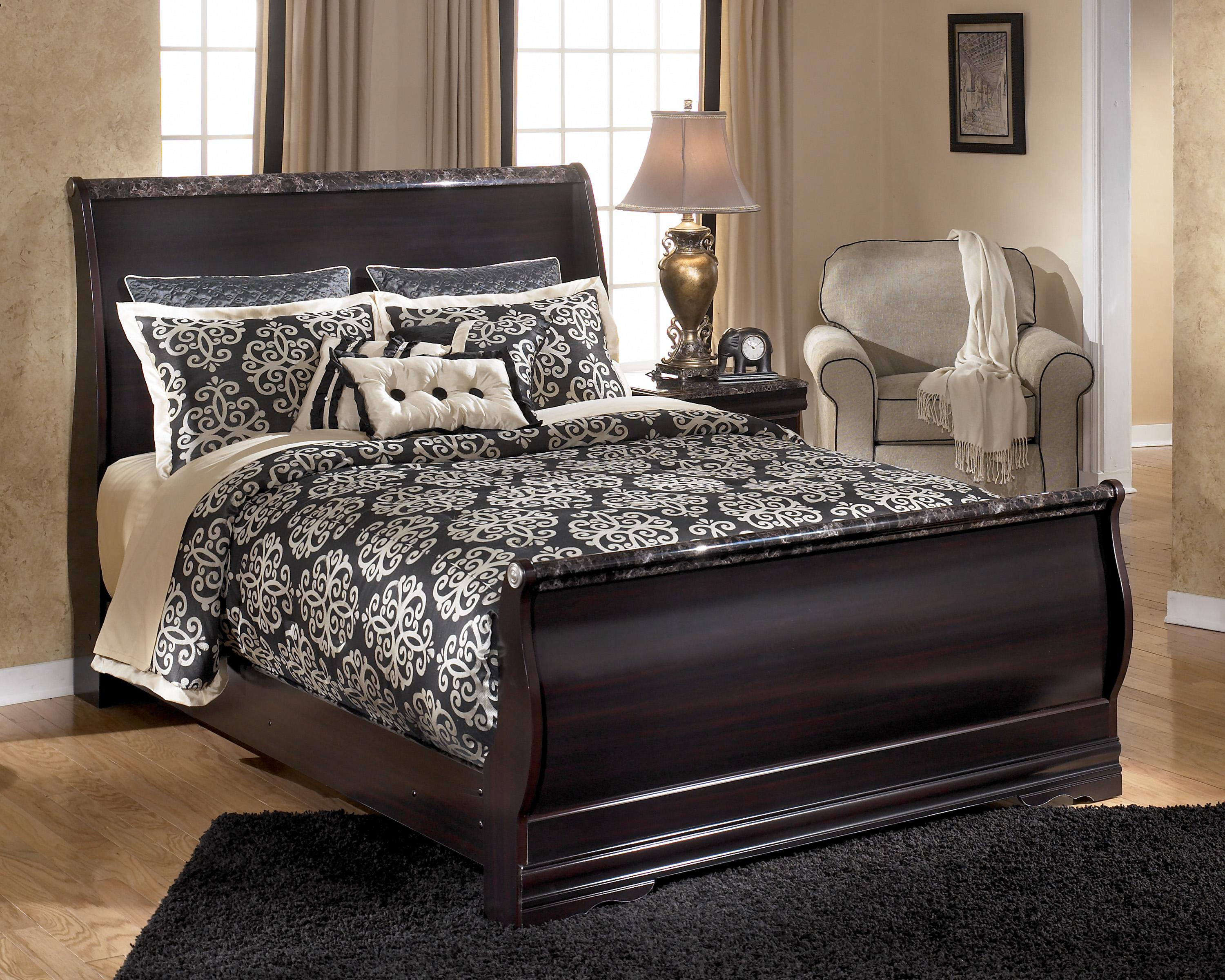 Amazing Sleigh Beds Queen to Bold Contemporary Look Statement