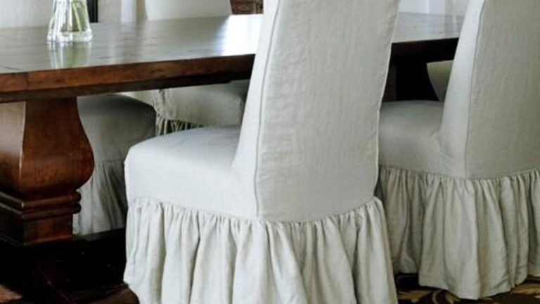 Parson Chair Slipcovers to Complete the Dining Room Chairs