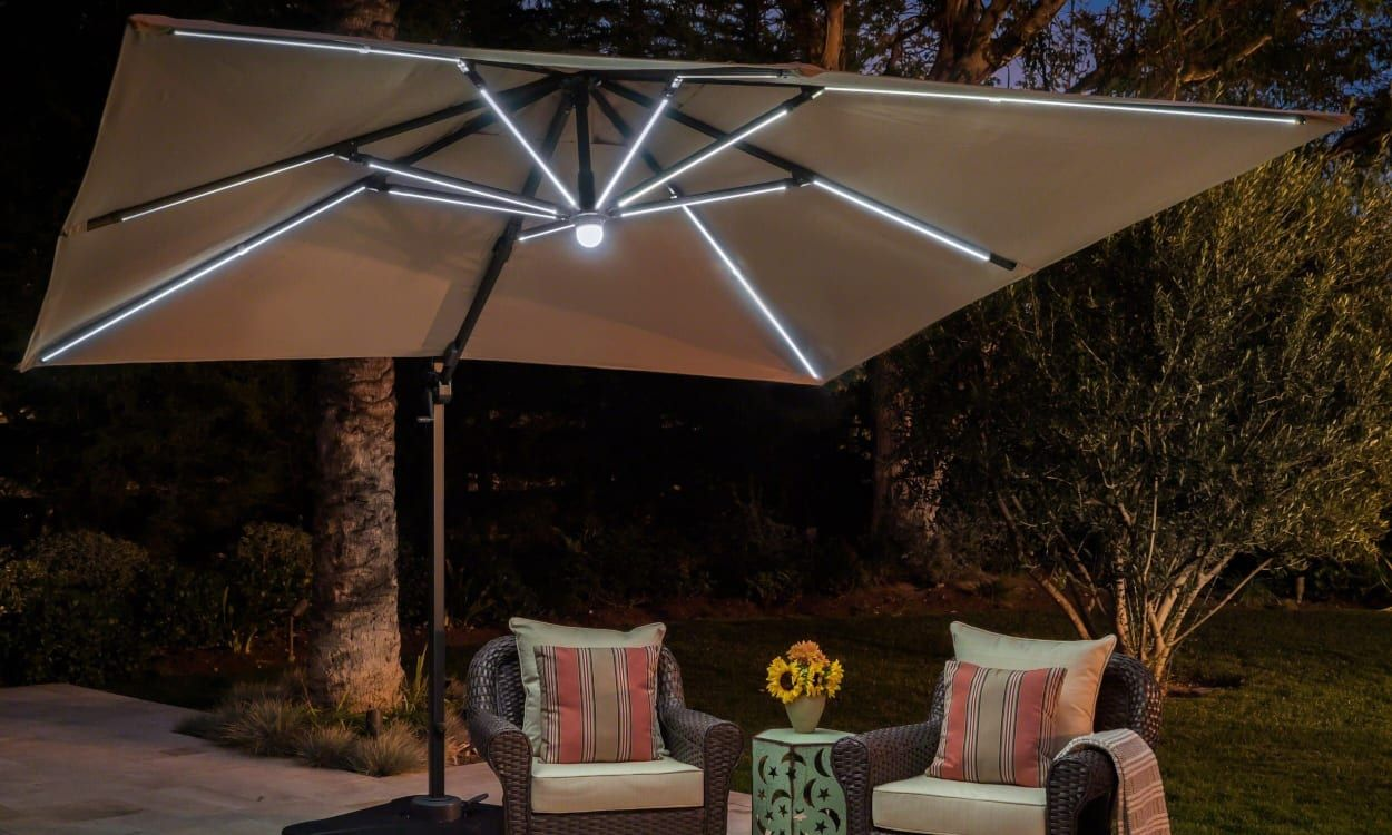 The Application of Patio Umbrella Lights