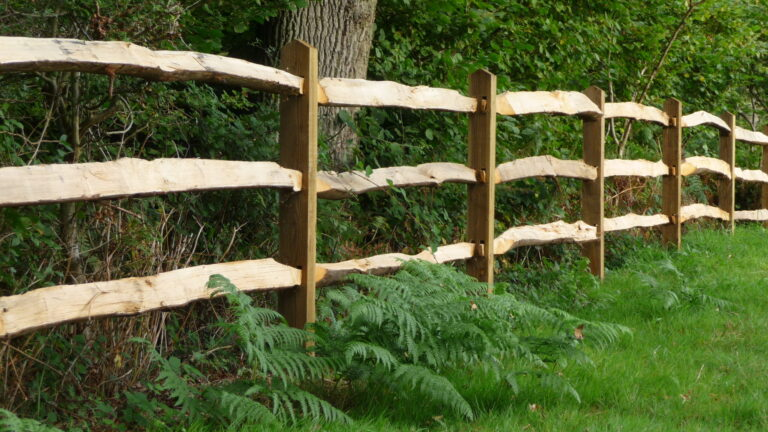 Split Rail Fence for Country Home