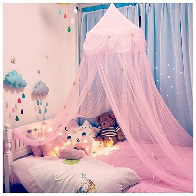 the Princess Canopy Bed Curtains for girl