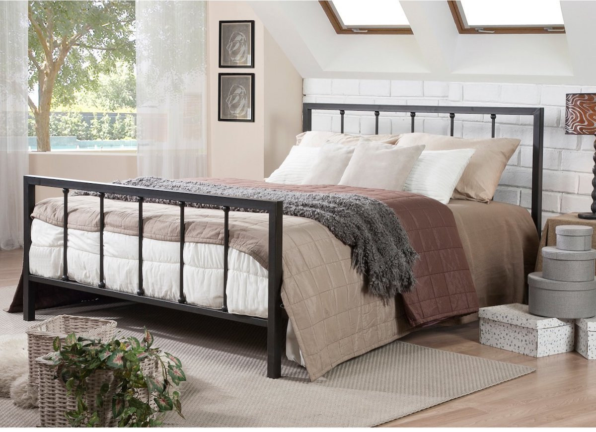 Dunhill Full-size Bed and Frame that look perfect with its touch of wood and metal.