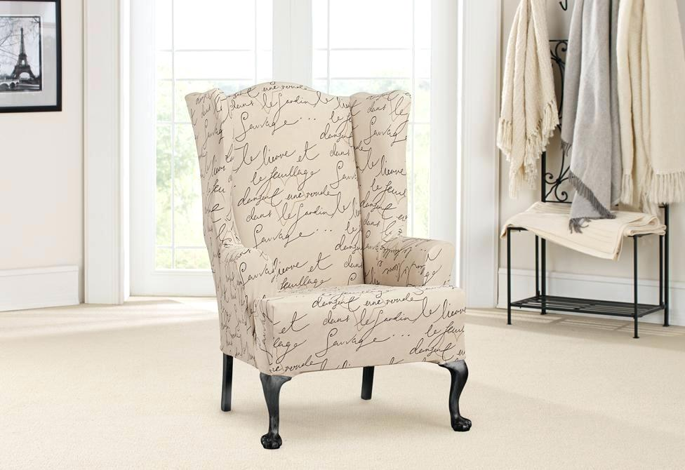Wingback Chair Slipcover Selection of Design