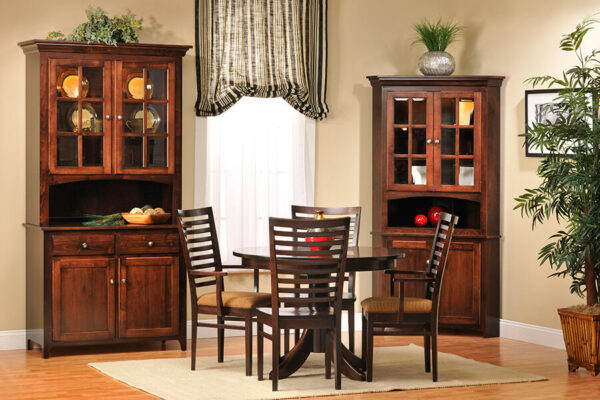 Dining Room Corner Hutch to Complete Dining Room