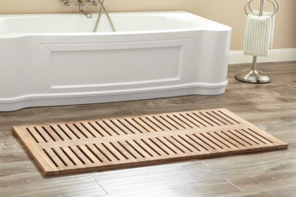 Teak Bath Mat with Several Benefits