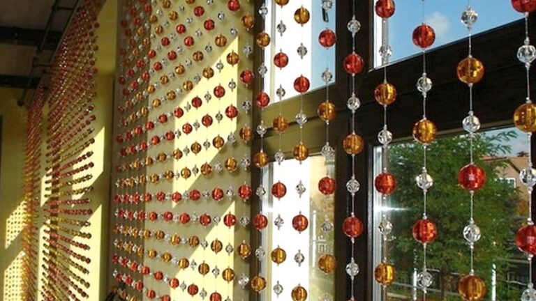 Making the Unique Decoration by Using the Beaded Curtains