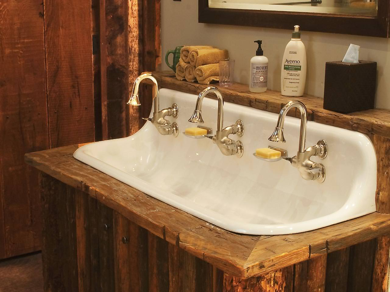 cast iron bathroom sink