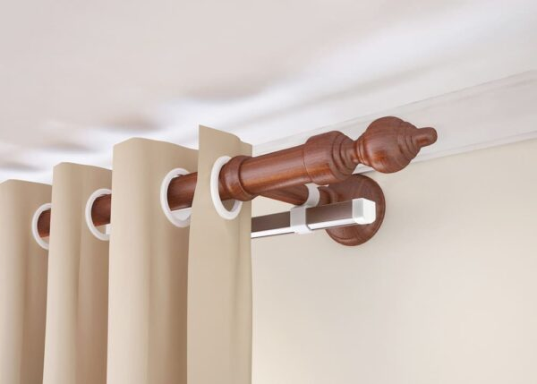 Double Curtain Rod Decoration