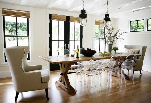 Contemporary Dining Chairs: Ghost Chairs