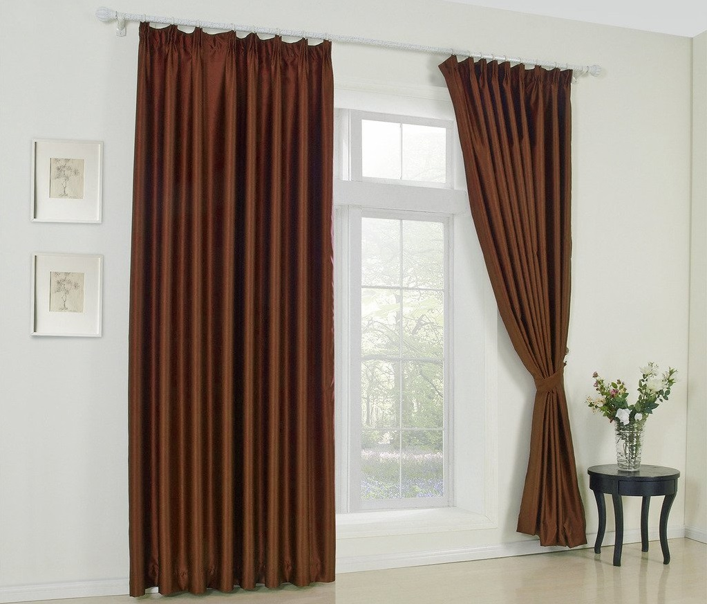Solid grommet curtains