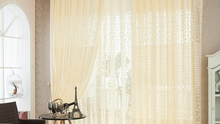 The Softness of the Lace Curtains